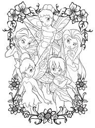 coloring pages tinkerbell friends cartoon coloring pages