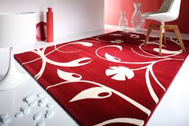 white and red carpet designs with floral pattern on white floor