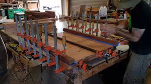 table top glue up gluing up a natural edge table top youtube