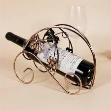 1 bottle red wine rack kitchen free standing holder iron wine