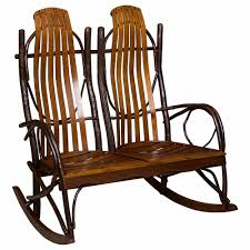 Western Rocking Chair Amish Double Rocker Cabin Place