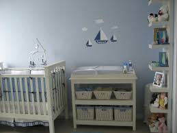 contemporary light blue baby boy bedroom theme ideas with wooden