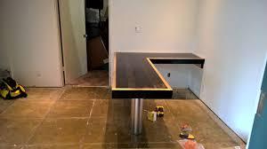 Wood L Shaped Desk Reclaimed Wood L Shaped Desk