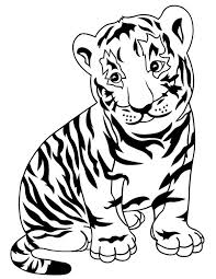 lovely tiger cub zoo coloring download u0026 print
