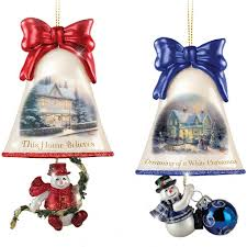 kinkade ringing in the holidays ornament sets by the