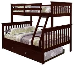 Twin Over Full Bunk Bed Craftsman Bunk Beds By Custom Kids - Twin over full bunk bed trundle