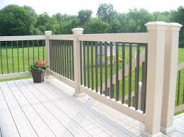 exterior design beautiful aluminum deck railing with potted