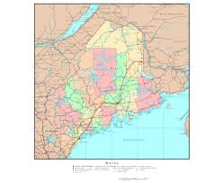 map of maine cities maps of maine state collection of detailed maps of maine state