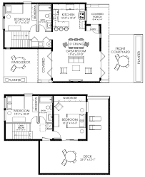 modern home floor plan 1 2 3 cottage style house plans 2292 square foot home 1 story 3