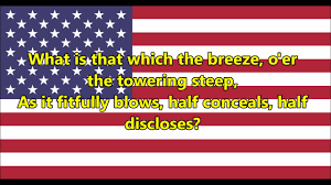 American Flag In Text National Anthem Of The United States Of America Lyrics Youtube