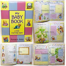 baby 1st year book baby year book ebay
