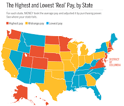 us bureau of average income and cost of living in every state
