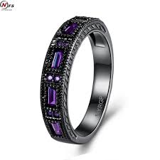 black crystal rings images Nfs punk menfolks simple crystal with purple crystal rings black jpg