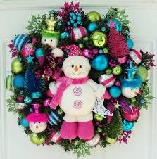 4 pink snowman christmas wreath momselect yoursantastory