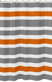 Orange Shower Curtains Gray And Orange Stripe Bathroom Fabric Bath Shower Curtain