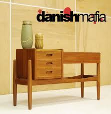 mid century danish modern arne iverson sofa planter credenza entry