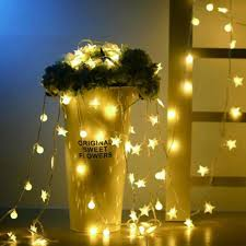christmas tree flower lights 3m 20 led new year string light christmas decorations for home star