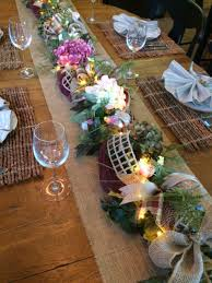Garland Fairy Lights by Floral And Greenery Table Runner Garland With Led Fairy Lights At