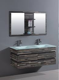 Designer Bathroom Vanity by Fabulous Square Mirror On Gray Color Wall Right For Captivate