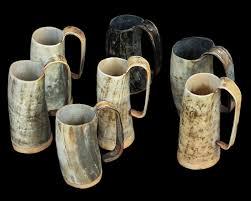 horn ox horn wooden u0026 glass beer mugs