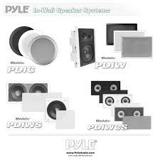 in wall speakers home theater amazon com pyle pdiw52 in wall in ceiling dual 5 25 u0027 u0027 speaker
