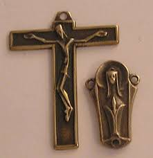 rosary parts fernand py austrian crucifix center rosary parts set