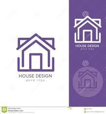 House Design Templates Free by Modern House Logo Design Template Flat Simple Stock Vector Image