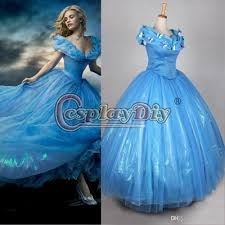 princess costumes for halloween 2015 newest movie cinderella princess dresses blue deluxe wedding