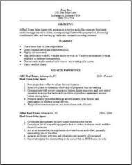 real estate resume real estate resume exles sles free edit with word