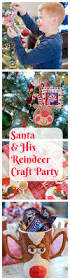 santa and his reindeer craft party for kids reindeer craft