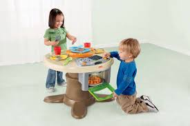 fisher price table chairs fisher price servin surprises kitchen table set kids toy review