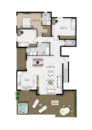 top floor plans 2d furniture floorplan top down view psd 3d cgtrader