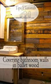 basement bathroom renovation ideas covering walls with pallet wood the basement bathroom renovation