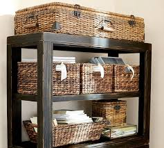 Pottery Barn Baskets With Liners Havana Utility Baskets Pottery Barn