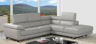 Gray Leather Sofa - Corner leather sofas