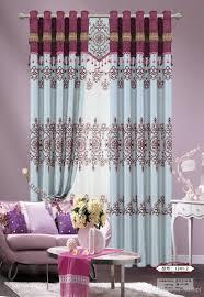 new design europe type curtain cationic jacquard flocking shading