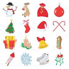 christmas cartoon icons set stock vector art 500369390 istock