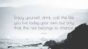 enjoy yourself euripides quote enjoy yourself drink call the life you live