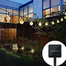 Solar String Lights Outdoor Patio Binval Solar String Lights For Outdoor Patio Lawn
