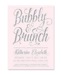 bridal shower invitations brunch bubbly brunch bridal shower invitation silver blush pink