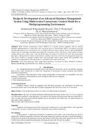 design u0026 development of an advanced database management system using u2026