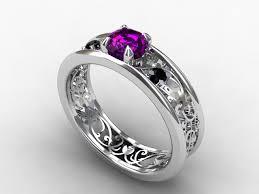 Gothic Wedding Rings by Purple Diamond Wedding Rings Wedding Decorate Ideas