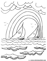 rainbow sail boat coloring sheet create a printout or activity