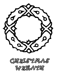 mouse and wreath free coloring pages for christmas christmas