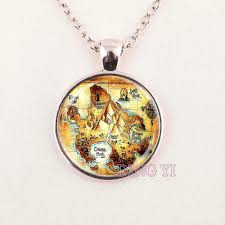 Neverland Map Aliexpress Com Buy Peter Pan Necklace Neverland Map Never Land