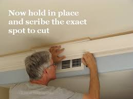 scribe molding for kitchen cabinets how to install kitchen crown molding 27 the joy of moldings com