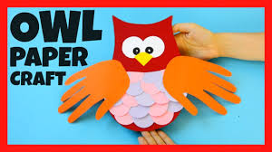 owl handprint craft fall crafts for kids youtube