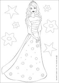 barbie star coloring pages hellokids