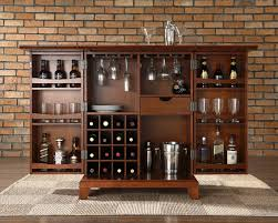 Crosley Furniture Outdoor Crosley Furniture Newport Expandable Bar Cabinet In Classic Cherry
