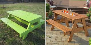 Garden Table Plans Free by 10 Free Picnic Table Plans U2013 Diys To Do